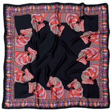 Load image into Gallery viewer, Black Silkhorse Twill Scarf