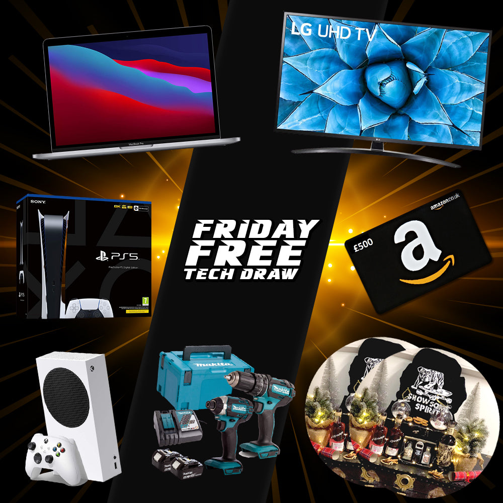 Friday 11th December Free Tech Draw