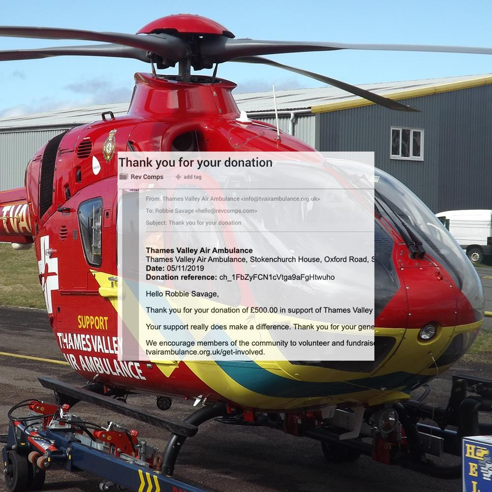 £500 - Berkshire Air Ambulance