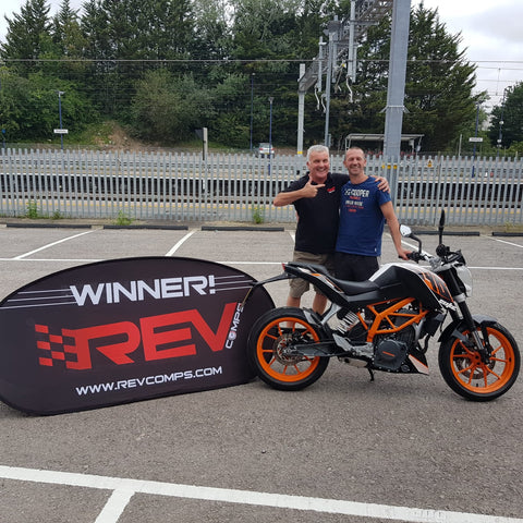 Wayne Cummings KTM 390 winner
