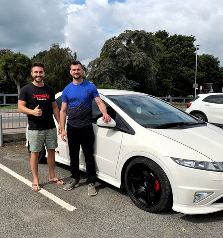 Lee Millburn with his Honda Civic Type R dream car