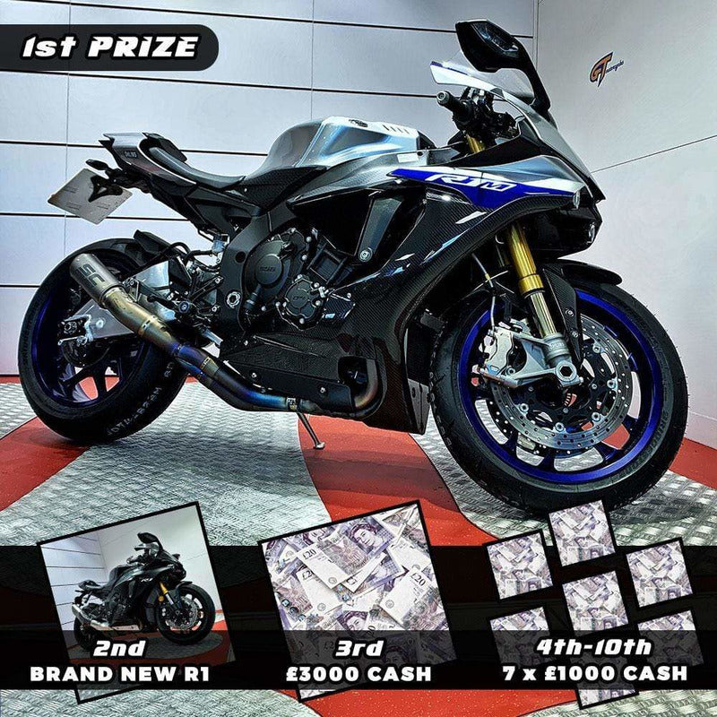 Rev Comps Competition YAMAHA R1M & R1 MEGA DRAW Win Cars Bikes Vans
