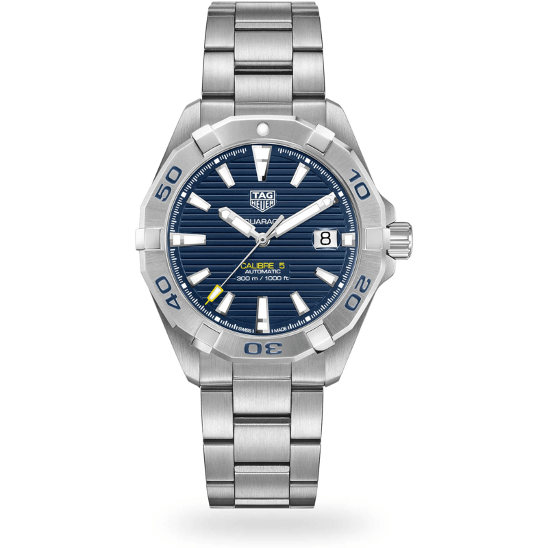 Rev Comps Competition NEW TAG Heuer Calibre 5 Aquaracer Blue Win Cars Bikes Vans