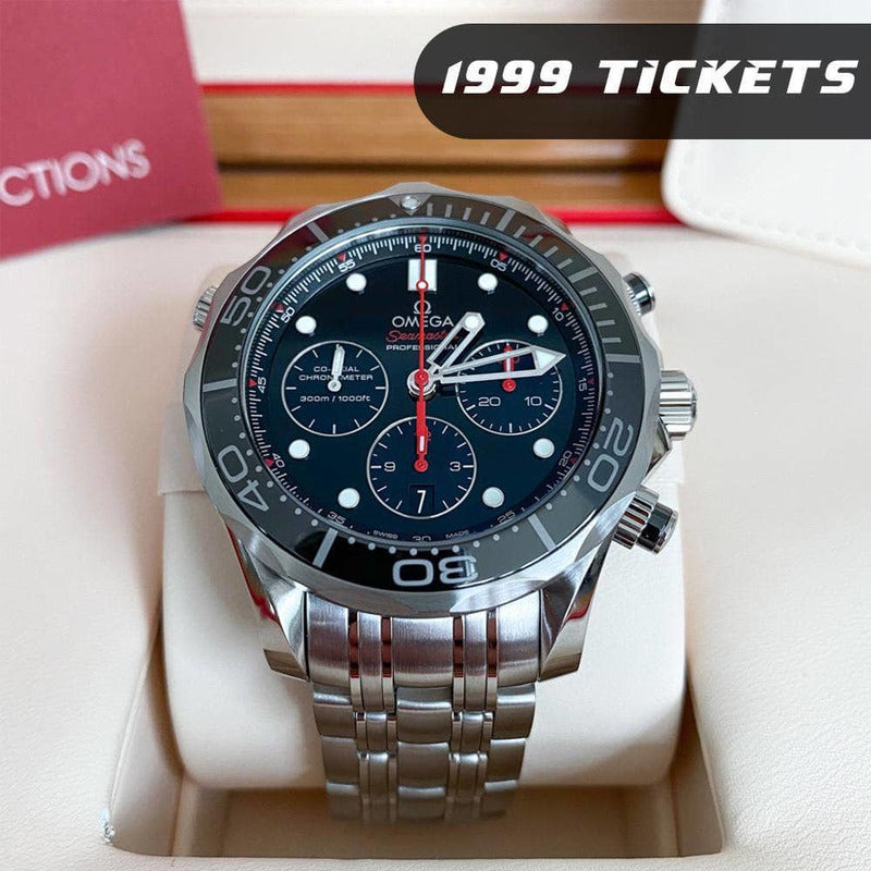 Rev Comps Competition Omega Seamaster Diver Watch - 1999 Tickets Win Cars Bikes Vans