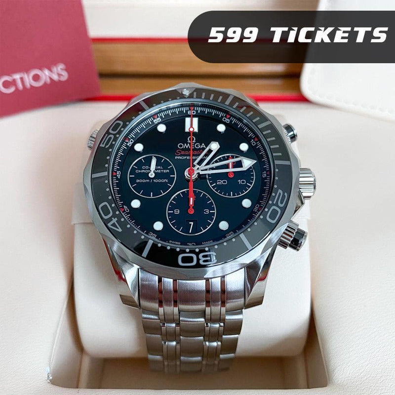 Rev Comps Competition Omega Seamaster Diver Watch - 599 Tickets Win Cars Bikes Vans
