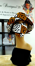 Tribal Bucket Hat & Face Crown Set