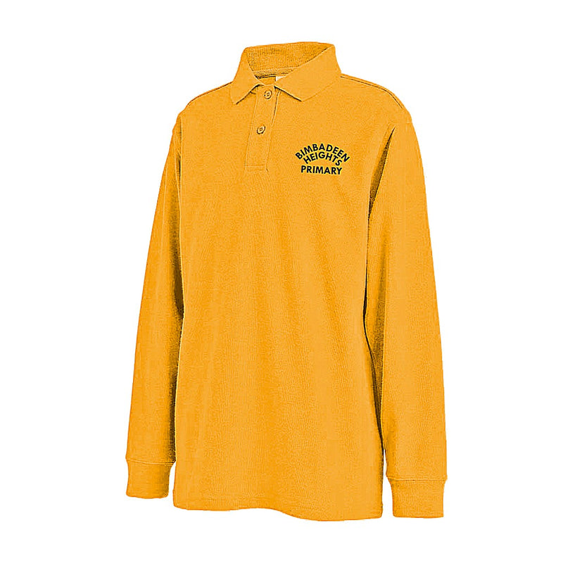 Gold Long Sleeve Polo Shirt