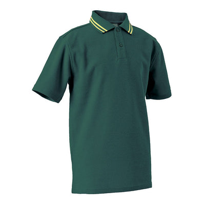 Short Sleeve Polo Shirt with Striped Collar  ADULT - JERVIS