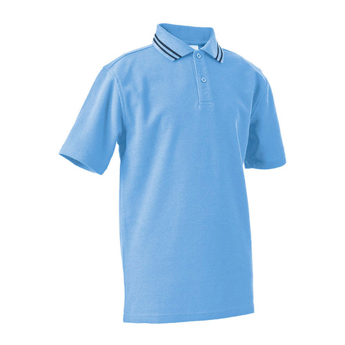 Short Sleeve Polo Shirt with Striped Collar  CHILD - JERVIS