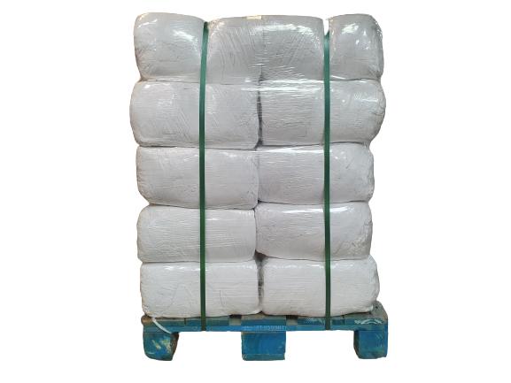 Mixed White General Cleaning Rags Pallet 10kg 300kg