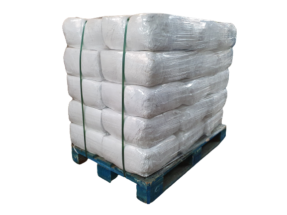 White Sheeting Grade 2 Cleaning Rags Pallet 10kg 300kg