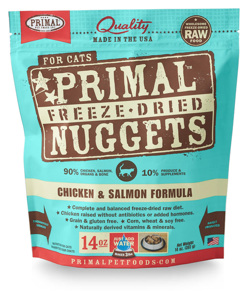 Primal | Chicken & Salmon Freeze-Dried Cat Food 14 oz