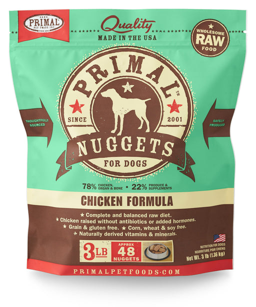 Primal | Frozen Raw Nuggets Chicken Formula 3 lb