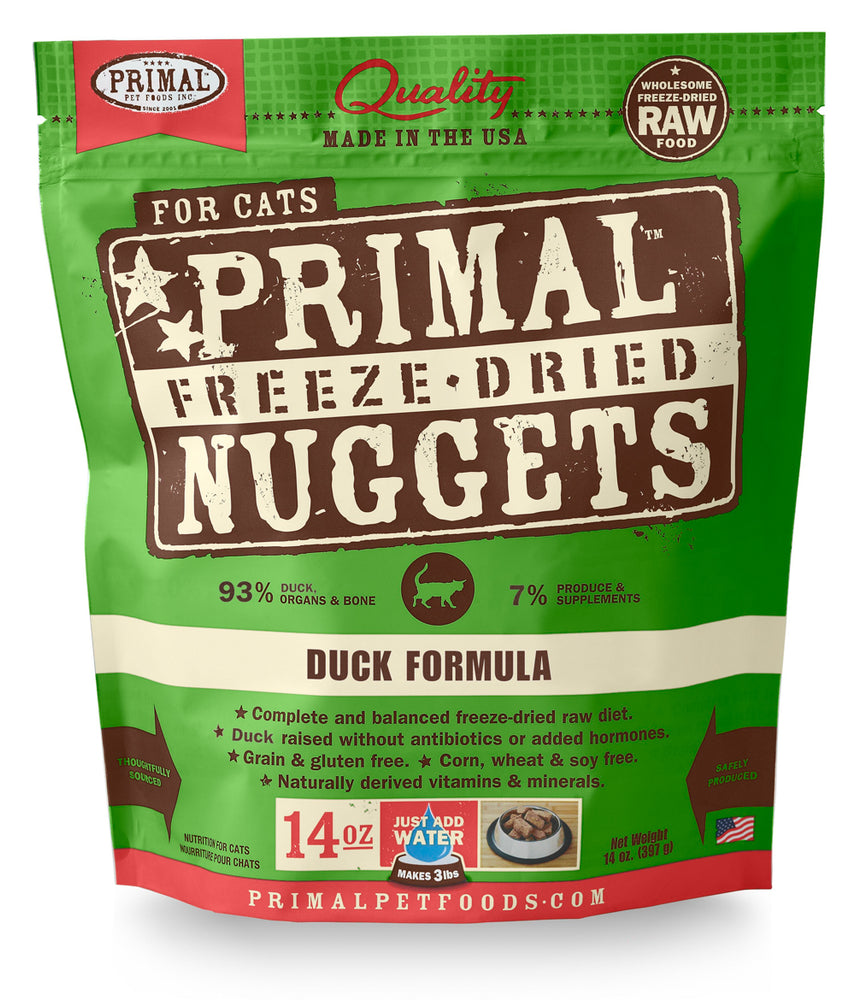 Primal | Duck Freeze-Dried Cat Food 14 oz