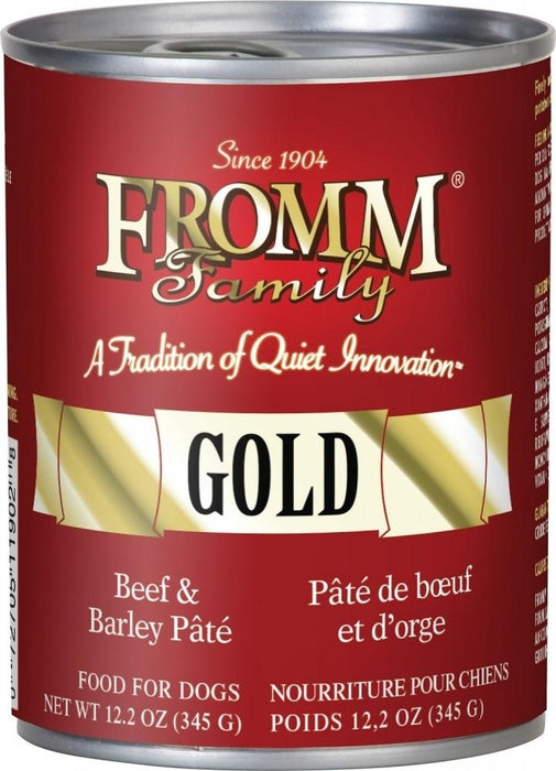 Fromm | Gold Beef & Barley Pate Canned Dog Food 12.2 oz