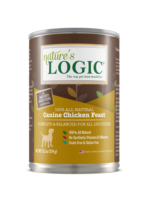 Nature's Logic | Chicken Feast Canned Dog Food 13.2 oz