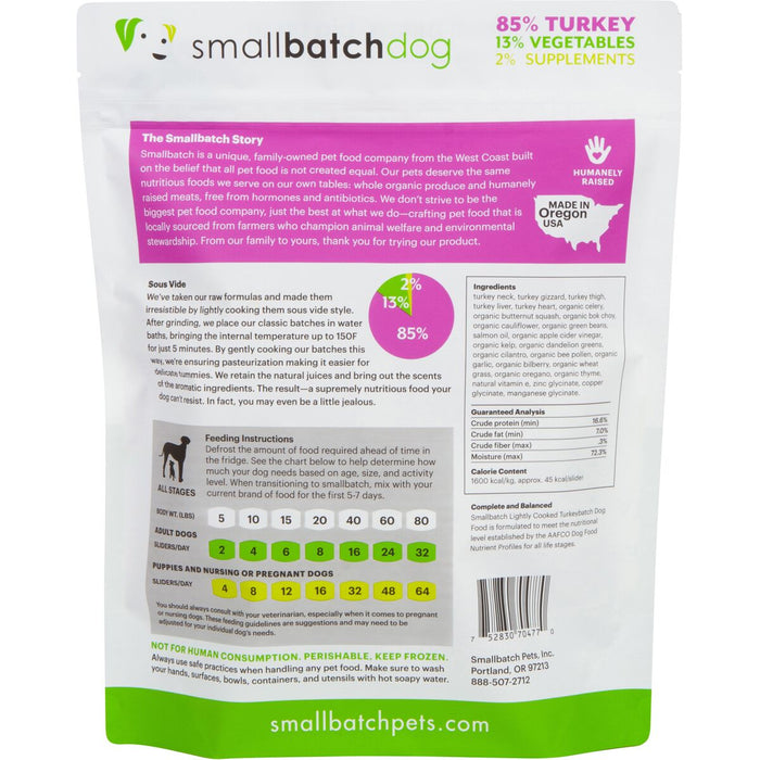 Small Batch | Lightly Cooked Turkey Batch (frozen)