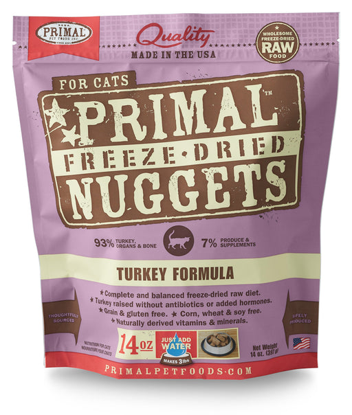 Primal | Turkey Freeze-Dried Cat Food 14 oz