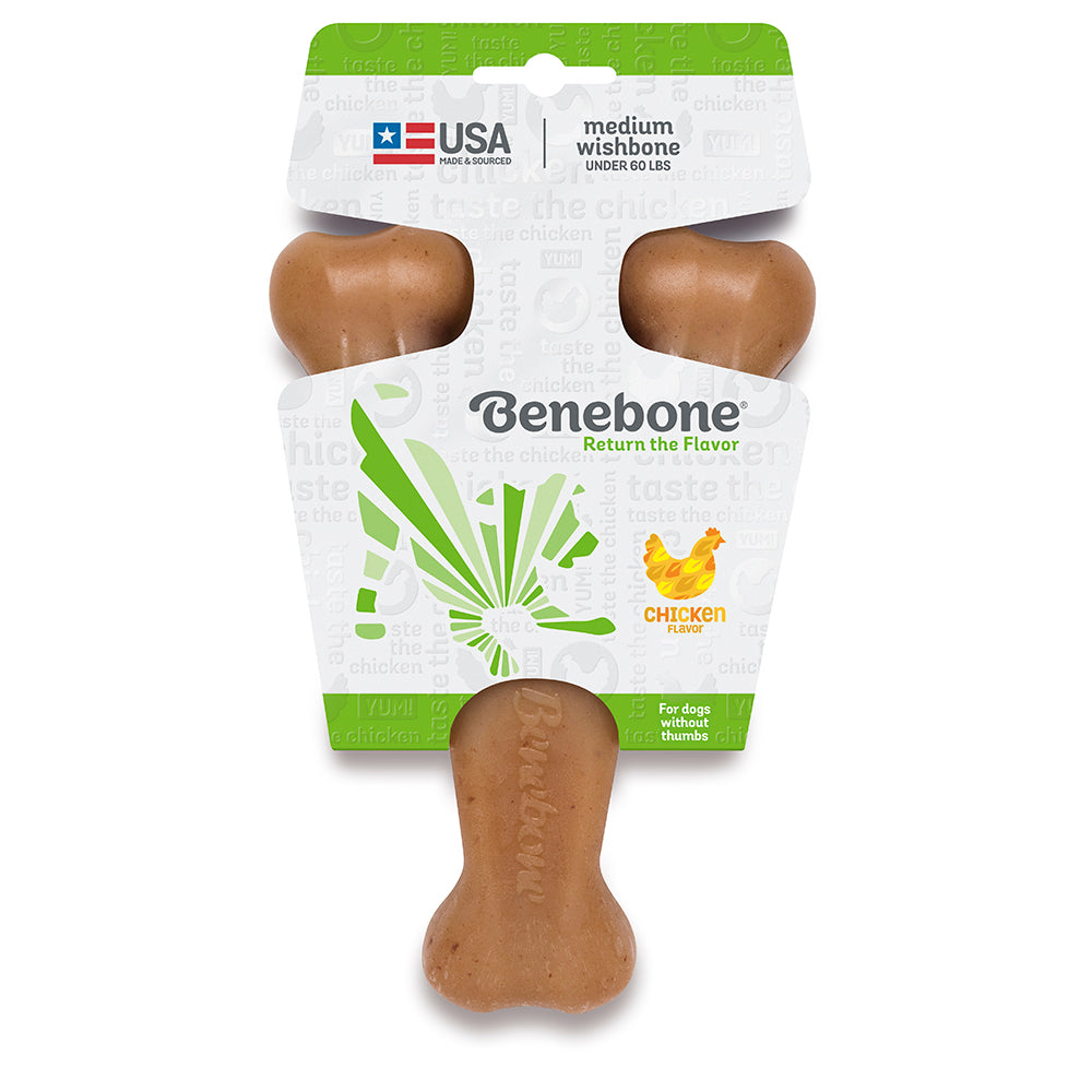 Benebone | Chicken Wishbone Dog Chew Toy