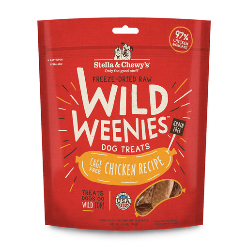 Stella & Chewy's | Cage-Free Chicken Wild Weenies Freeze-Dried Dog Treats 3.25 oz