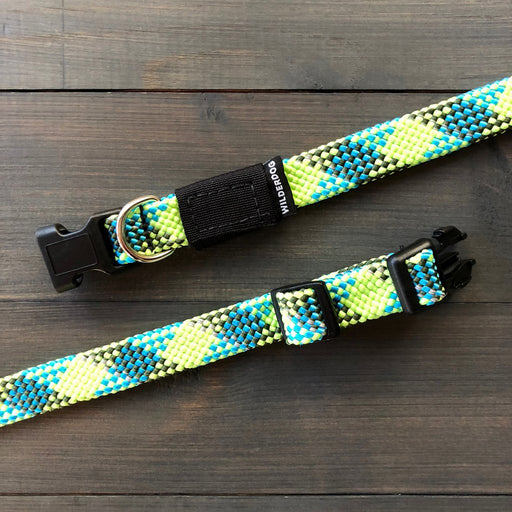 Wilderdog | Lime Reflective Rope Collar