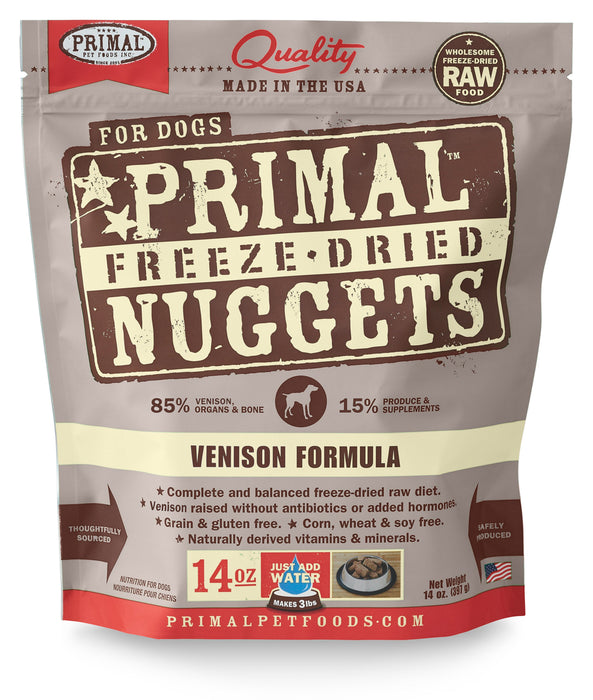 Primal | Venison Freeze-Dried Dog Food 14 oz