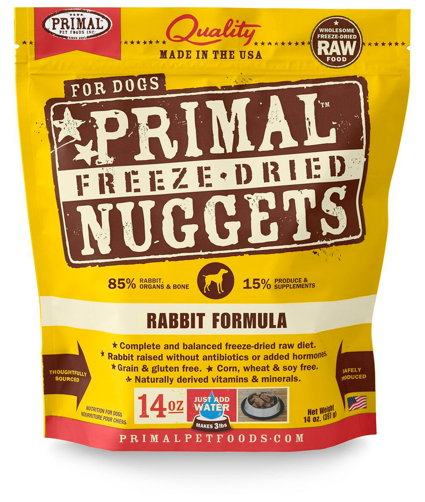 Primal | Rabbit Freeze-Dried Dog Food 14 oz