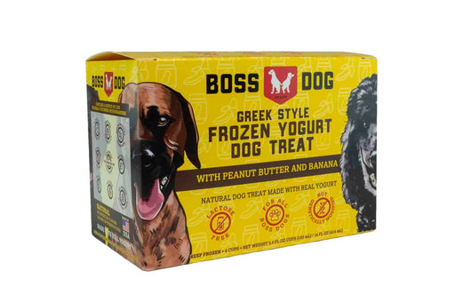 Boss Dog | Frozen Yogurt Cup - 4 Pack Peanut Butter & Banana