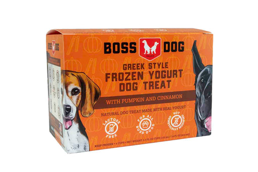 Boss Dog | Frozen Yogurt Cup - 4 Pack Pumpkin Cinnamon