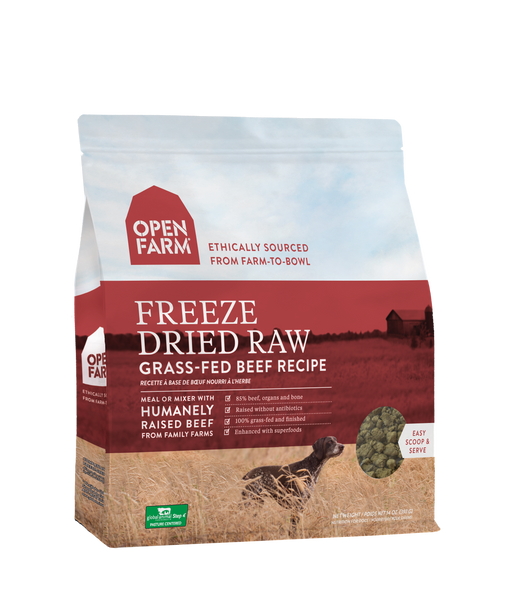 Open Farm | Grass-Fed Beef Freeze-Dried Raw Dog Food