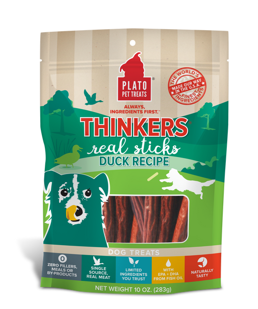 Plato Pet Treats | Thinkers Duck Recipe 10 oz