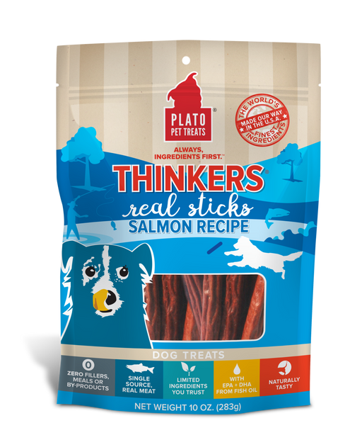 Plato Pet Treats | Thinkers Salmon Recipe 10 oz