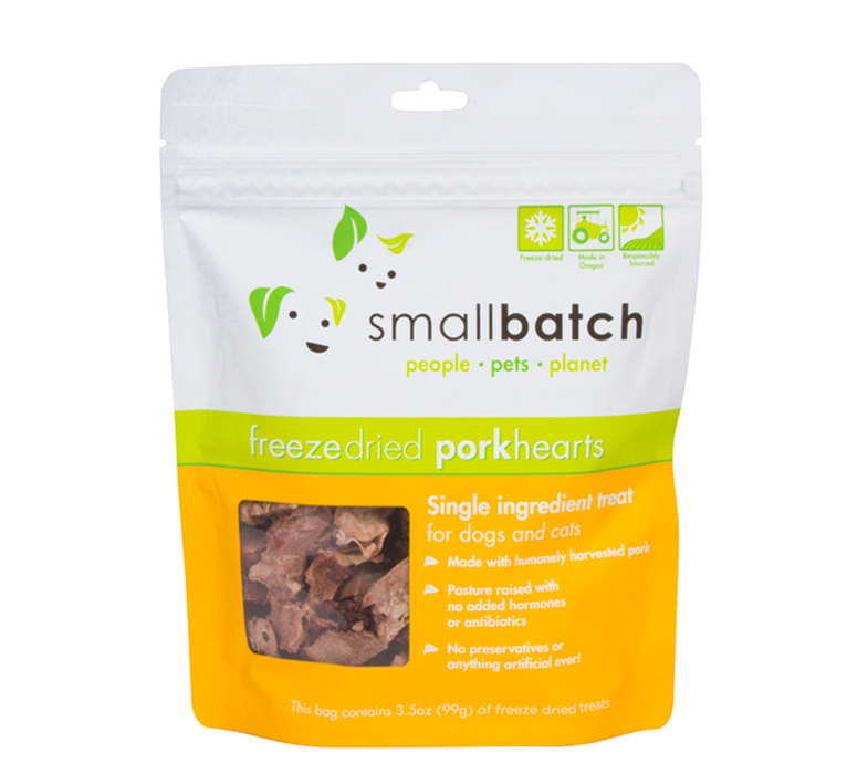 Small Batch | Freeze-Dried Pork Heart Treats 3.5 oz