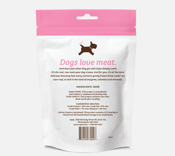 Sojos | Simply Lamb Freeze-Dried Dog Treats