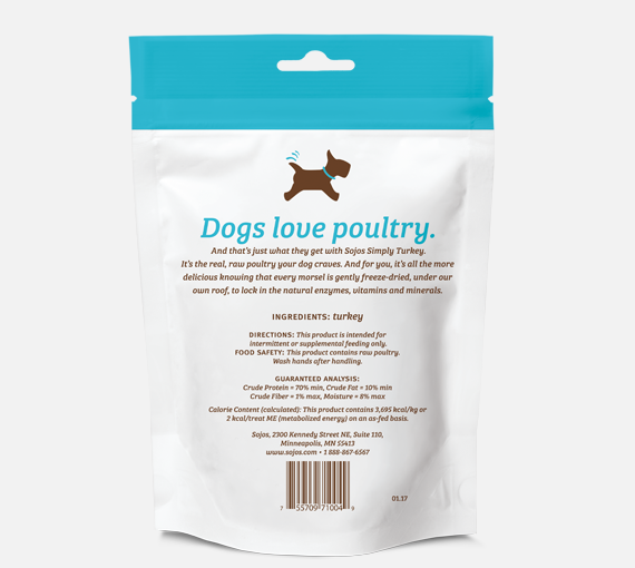 Sojos | Simply Turkey Freeze-Dried Dog Treats
