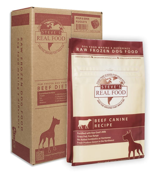 Steve's Real Food | Beef Diet Raw Frozen Food for Dogs & Cats