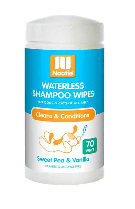 Nootie | Sweet Pea & Vanilla Waterless Shampoo Wipes 70 ct