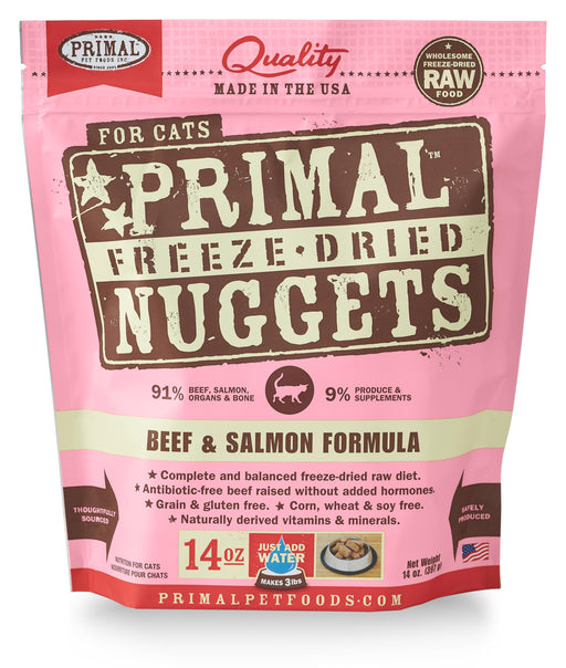 Primal | Beef & Salmon Freeze-Dried Cat Food 14 oz