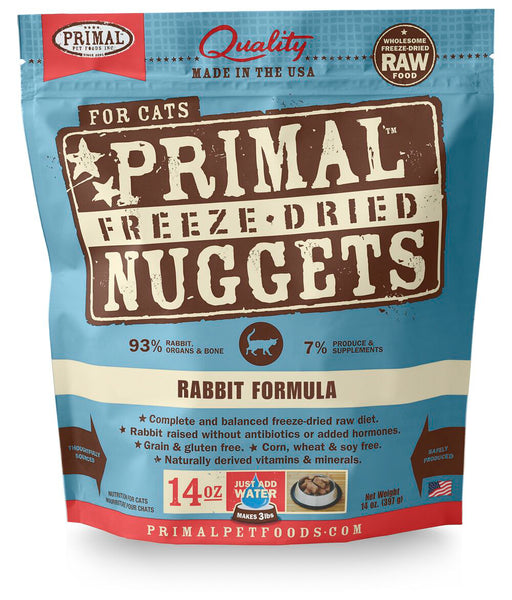 Primal | Rabbit Freeze-Dried Cat Food 14 oz