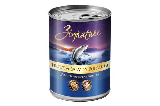 Zignature | Trout & Salmon Formula Canned Dog Food 13 oz