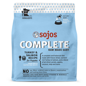 Sojos | Turkey & Salmon Puppy Complete Freeze-Dried Raw Dog Food