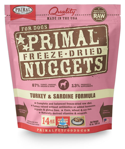 Primal | Turkey & Sardine Freeze-Dried Dog Food