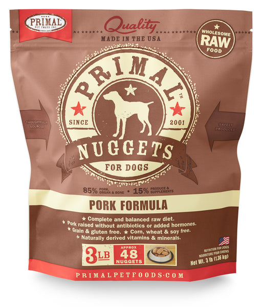 Primal | Frozen Raw Nuggets Pork Formula 3 lb