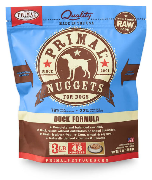 Primal | Frozen Raw Nuggets Duck Formula 3 lb