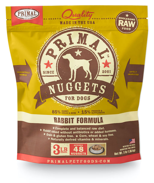 Primal | Frozen Raw Nuggets Rabbit Formula 3 lb