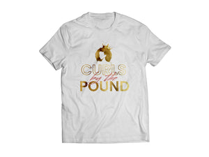 CURLS BY THE POUND TEE - WHITE