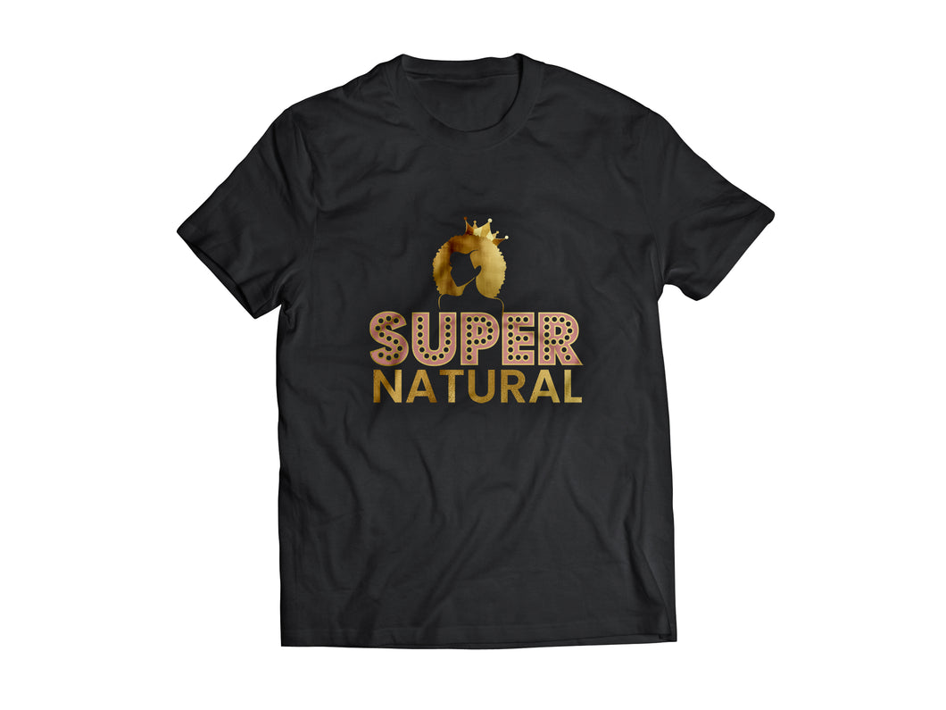 SUPER NATURAL TEE - BLACK