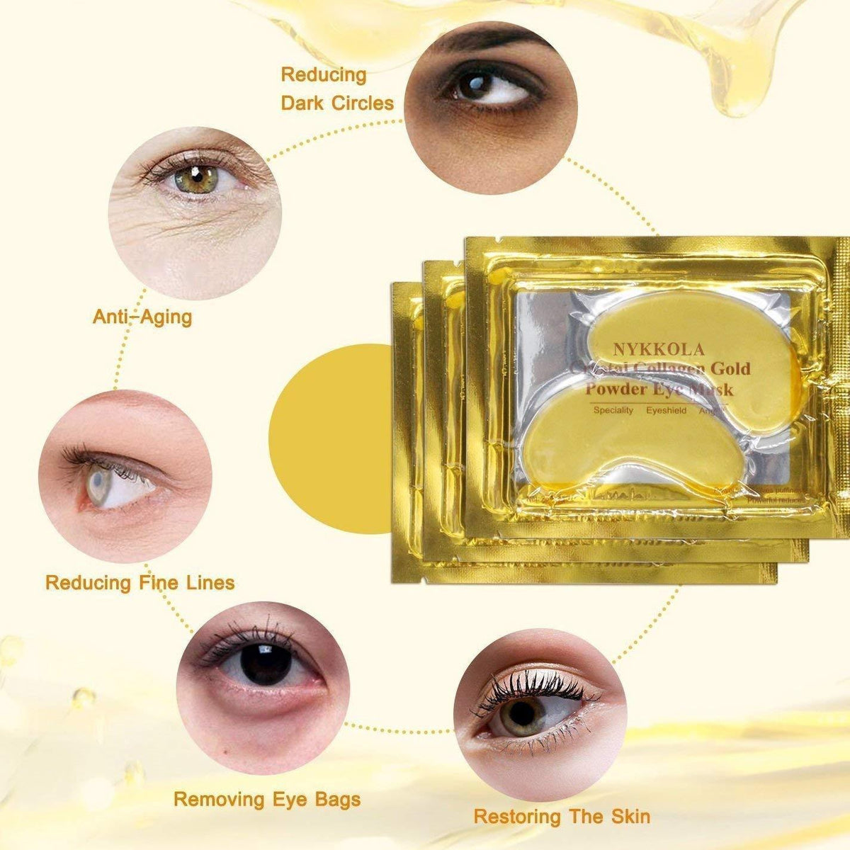 Crystal Collagen Eye Masks ( 10 pcs)