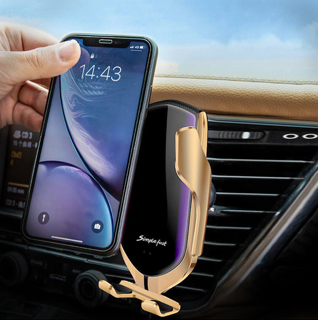 Car Wireless Phone Charger Auto-Clamping Holder