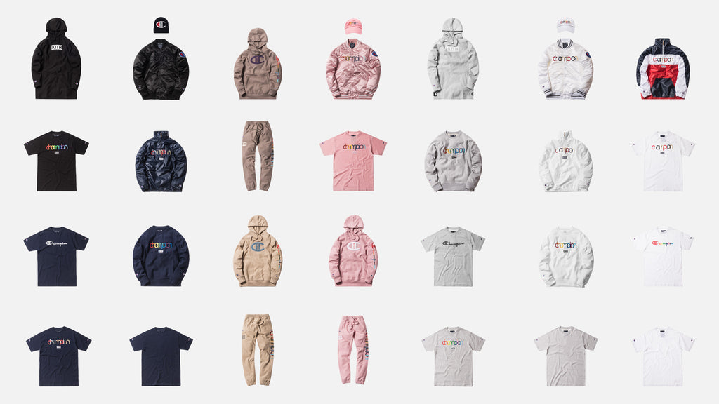 ce89680d4 A Closer Look at Kith x Champion Collection